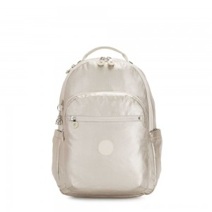 Black Friday 2020 - Kipling SEOUL Large Backpack with Laptop Compartment Cloud Metal