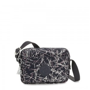 Black Friday 2020 - Kipling ABANU Mini Crossbody Bag with Adjustable Shoulder Strap Navy Stick Print