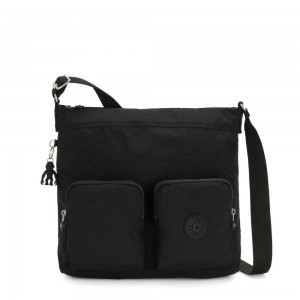 Black Friday 2020 - Kipling EIRENE Shoulderbag with External Front Pockets True Black Femme Strap