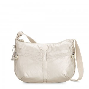 Kipling IZELLAH Medium Across Body Shoulder Bag Cloud Metal