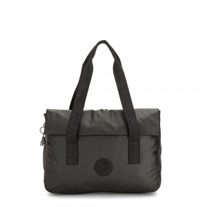 Kipling PERLANI Large Laptop Bag with Trolly Sleeve Black Metallic