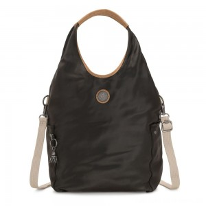 Black Friday 2020 - Kipling URBANA Hobo Bag Across Body With Removable Shoulder Strap Delicate Black