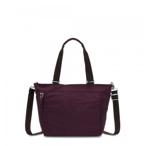 Black Friday 2020 - Kipling NEW SHOPPER S Small Shoulder Bag With Removable Shoulder Strap Dark Plum
