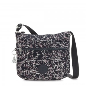 Kipling ARTO Shoulder Bag Across Body Navy Stick Print