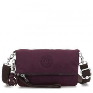 Black Friday 2020 - Kipling LYNNE Small Crossbody Bag with Removable Adjustable Shoulder strap Dark Plum