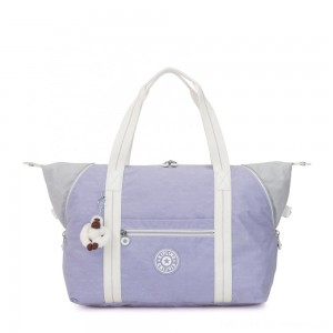 Kipling ART M Travel Tote With Trolley Sleeve Active Lilac Bl