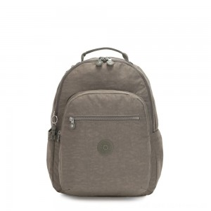 Black Friday 2020 - Kipling SEOUL Large backpack with Laptop Protection Seagrass
