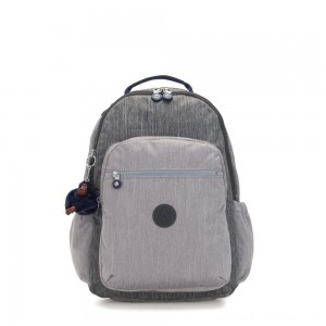 Kipling SEOUL GO Large Backpack with Laptop Protection Ash Denim Bl