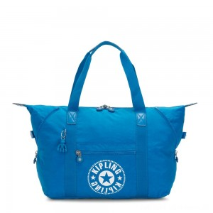 Kipling ART M Medium Tote Bag with 2 Front Pockets Methyl Blue Nc