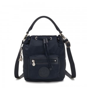 Black Friday 2020 - Kipling VIOLET S Small Crossbody Convertible to Handbag/Backpack True Blue Twill