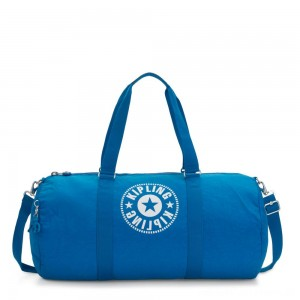 Kipling ONALO L Large Duffle Bag with Zipped Inside Pocket Methyl Blue Nc