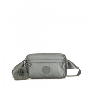 Kipling HALIMA Small 2-in-1 Waistbag and Crossbody Metallic Stony