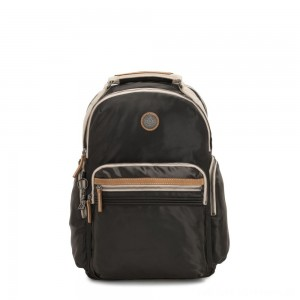 Black Friday 2020 - Kipling OSHO Large backpack with organsiational pockets Delicate Black