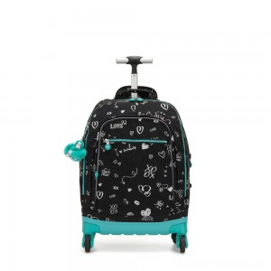 Black Friday 2020 - Kipling ECHO Wheeled School Bag Girl Doodle