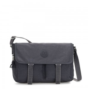 Kipling IKIN Medium Messenger Crossbody Bag Night Grey