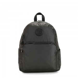 Black Friday 2020 - Kipling CITRINE Large Backpack with Laptop/Tablet Compartment Black Metallic