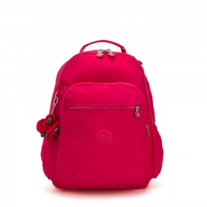 Kipling SEOUL GO Large Backpack with Laptop Protection True Pink