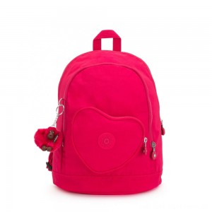 Kipling HEART BACKPACK Kids backpack True Pink