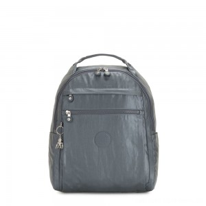 Black Friday 2020 - Kipling MICAH Medium Backpack Steel Grey Metallic