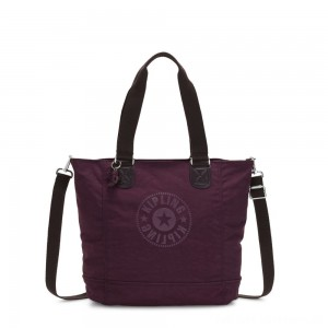 Black Friday 2020 - Kipling SHOPPER C Large Shoulder Bag With Removable Shoulder Strap Dark Plum