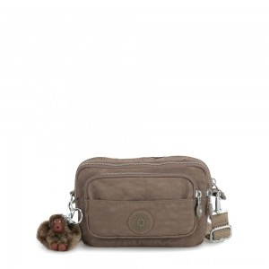 Kipling MULTIPLE Waist Bag Convertible to Shoulder Bag True Beige