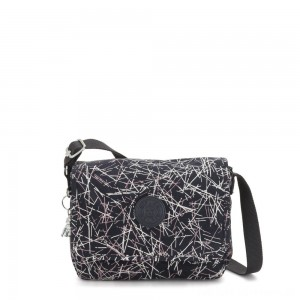Kipling NITANY Medium Crossbody Bag Navy Stick Print