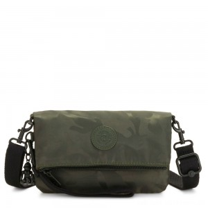 Black Friday 2020 - Kipling LYNNE Small Crossbody Bag with Removable Adjustable Shoulder strap Satin Camo