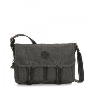 Black Friday 2020 - Kipling IKIN Medium Messenger Crossbody Bag Black Indigo