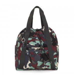 Black Friday 2020 - Kipling ART BACKPACK S Small Drawstring Backpack Camo Large