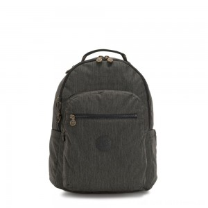 Kipling SEOUL Large backpack with Laptop Protection Black Indigo