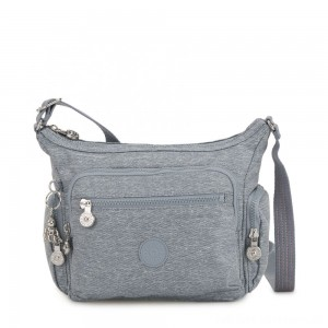 Kipling GABBIE S Small Crossbody Bag with multiple compartments Cool Denim