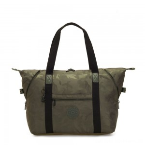 Black Friday 2020 - Kipling ART M Multi-use medium tote with trolley sleeve Satin Camo
