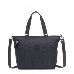 Black Friday 2020 - Kipling NEW SHOPPER L Large Shoulder Bag With Removable Shoulder Strap Night Grey