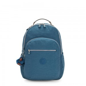 Black Friday 2020 - Kipling SEOUL Large Backpack with Laptop Protection Mystic Blue