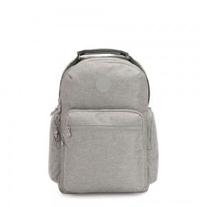 Kipling OSHO Large backpack with organsiational pockets Chalk Grey