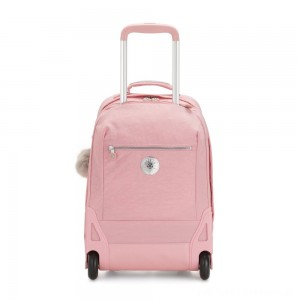 Black Friday 2020 - Kipling SOOBIN LIGHT Large wheeled backpack with laptop protection Bridal Rose