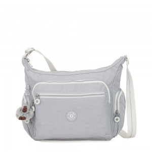 Kipling GABBIE Medium Shoulder Bag Active Grey Bl