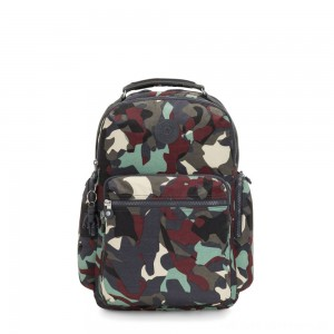 Kipling OSHO Large backpack with organsiational pockets Camo Large