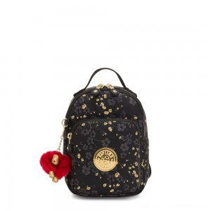 Black Friday 2020 - Kipling ALBER 3-In-1 Convertible Mini Backpack Crossbody Bumbag Grey Gold Floral