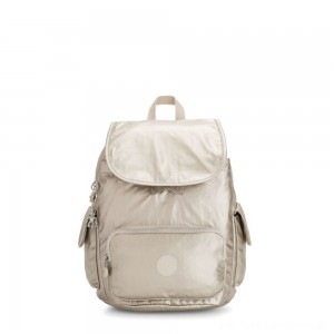 Kipling CITY PACK S Small Backpack Cloud Metal