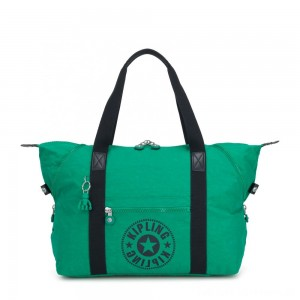 Black Friday 2020 - Kipling ART M Medium Tote Bag with 2 Front Pockets Lively Green