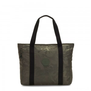 Black Friday 2020 - Kipling ASSENI Large Tote Bag with Internal Compartments Satin Camo