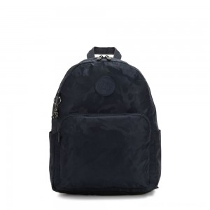 Black Friday 2020 - Kipling CITRINE Large Backpack with Laptop/Tablet Compartment Satin Camo Blue