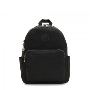 Kipling CITRINE Large Backpack with Laptop/Tablet Compartment Black Dazz