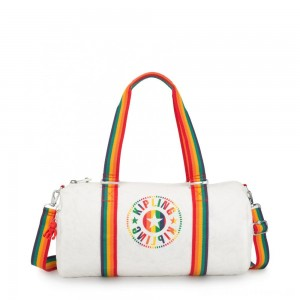 Black Friday 2020 - Kipling ONALO Multifunctional Duffle Bag Rainbow White