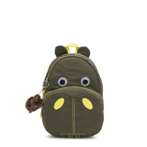 Kipling HIPPO Small hippo kids backpack Garden Grey C