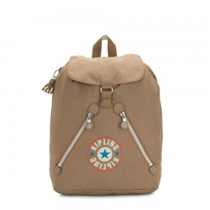 Kipling FUNDAMENTAL Medium backpack Sand Block