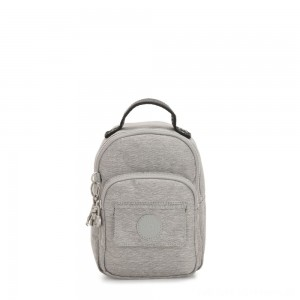 Kipling ALBER Small 3-in-1 convertible: bum bag, crossbody or backpack Chalk Grey