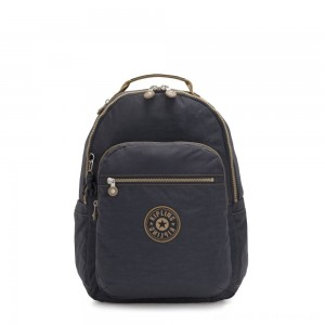 Black Friday 2020 - Kipling SEOUL Large backpack with Laptop Protection Night Grey Block