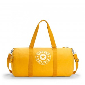 Black Friday 2020 - Kipling ONALO L Large Duffle Bag with Zipped Inside Pocket Lively Yellow